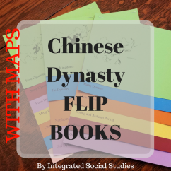 Chinese Dynasty Flip Books WITH MAPS