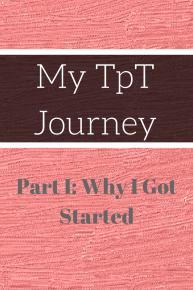 My TpT Journey Part 1 a