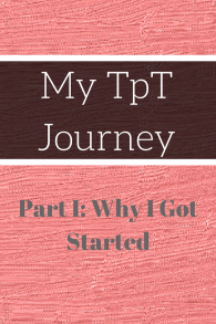 My TpT Journey Part 1 a