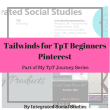 Tailwinds for TpT Beginners Pinterest