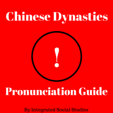 Chinese Dynasties Pronunciation Guide