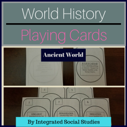 World History Playing Cards Ancient World