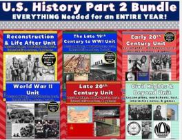 US History Part 2 Bundle