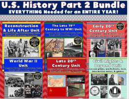US History Part 2 Bundle