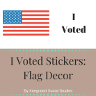 I Voted Sticker Flag Decor Cover