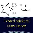 I Voted Sticker Stars Decor Cover