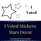 I Voted Sticker Stars Decor Cover