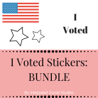 I Voted Stickers BUNDLE Cover