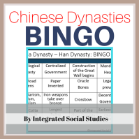 Chinese Dynasties BINGO