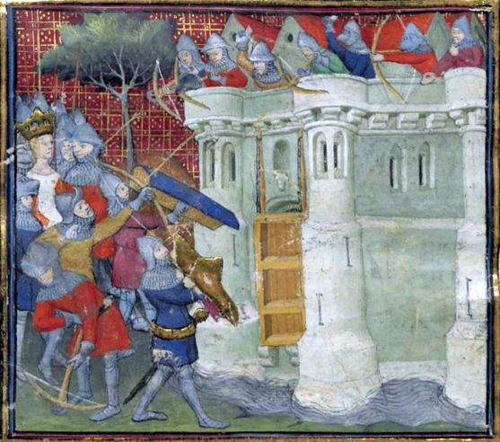 Isabella directing the Siege of Bristol