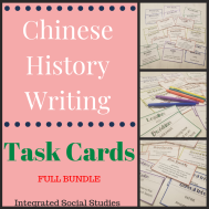 Chinese History Writing Task Cards Bundle 2
