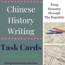 Chinese History Writing Task Cards Tang - The Republic