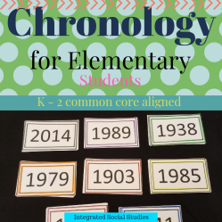Chronology for Elementary Students K - 2
