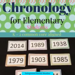 Chronology for Elementary Students K - 2