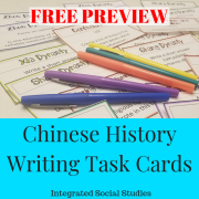 Chinese History Writing Task Cards Free Preview
