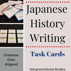 Japanese Writing Task Cards