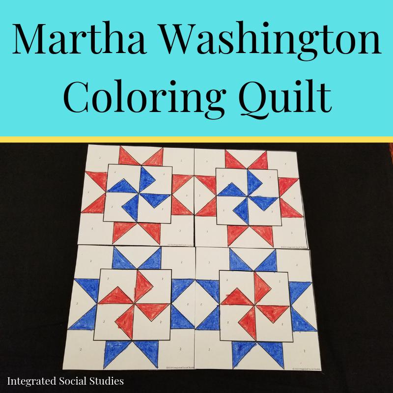 Martha Washington Coloring Quilt