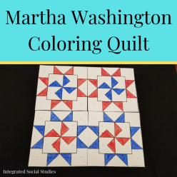 Martha Washington Coloring Quilt