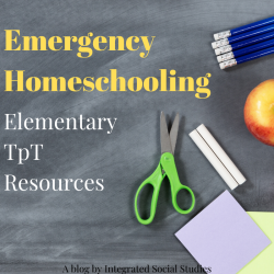 Emergency Homeschool Elementary TpT Resources